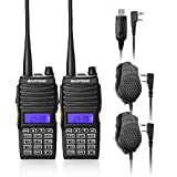BAOFENG 2PCS UV-5X Mate Handheld Two-way radio VHF136-174MHz UHF400-520MHz Dual Display Standby Transceiver