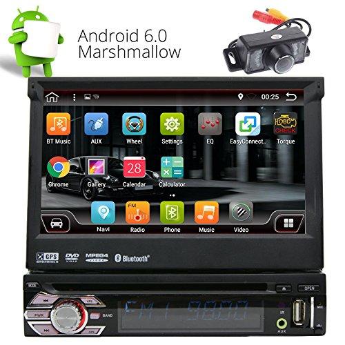 Camera libera inclusa! 2 GB di RAM Android 6.0 Autoradio singolo Radio baccano autoradio in precipitare sostegno Headunit GPS Navigation FM AM RDS Specchio collegamento Bluetooth SWC OBD DAB + WIFI
