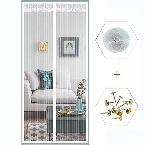 Magnet Fliegenvorhang 90X230, Magnet Vorhang Fliegenvorhang Moskitonetz Für Balkontür Wohnzimmer Terrassentür, Klebmontage Ohne Bohren,White,36x80in/90x200CM - 36 Wohnzimmer Vorhänge