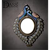 "D'Dass™ Peacock 16"" Wall Mirror / Wall Decorative/Mirror For Wall / Hanging Mirror / Wall Mirror For Living Room/Bathroom Mirror/ Industrial Retro Country Style Mirror For Dining Hall Restaurant Bar Cafe/ Wall Mirror For Christmas & New Yea"