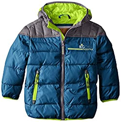 Big Chill Little Boys Puffer Jacket with Down Fill, Rainstorm, 5