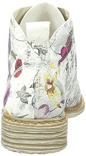 Rieker Damen L2130 Kurzschaft Stiefel Weiß (ice-multi / 90)