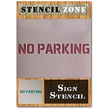 No Parking exterior pintura de Mylar plantilla Sign Home DIY, plástico, A4 Size Stencil - Small
