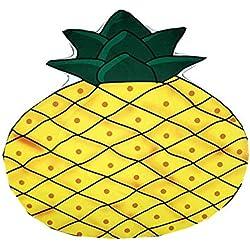 SUYUN Estampado Redondo Toalla de Playa Cabo Verano Fruta Kiwi Toalla Piña Gasa (80 g)