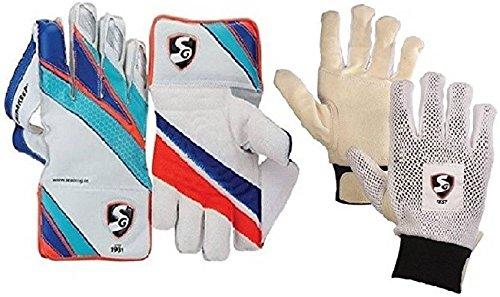 SG Combo von Zwei, Ein Paar supakeep Wicket Keeping Handschuhe und Ein Paar 'Test' Innen Handschuhe (Herren) Cricket Kit