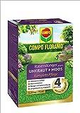 COMPO FLORANID® Rasendünger gegen Unkraut+Moos 4in1, perfekt Absgestimmte Rasenpflege mit zuverlässiger Unkraut- und Moosvernichtung, 2,25 kg für 75 m²