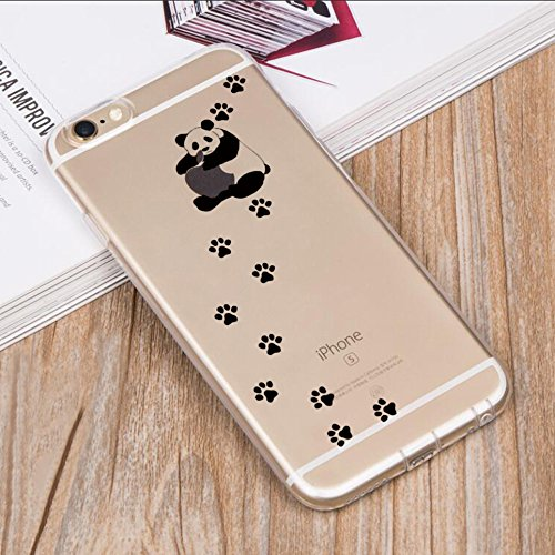 Pacyer® iPhone 6 Plus/6S Plus Custodia Panda TPU Gel Protettivo Skin Shell Case Cover Per Apple iPhone 6 Plus/6S Plus (5,5) 10