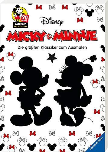 Micky und Minnie - Die größten Klassiker zum Ausmalen: 90 Jahre Micky Das Original -