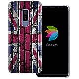 dessana England Transparente Silikon TPU Schutzhülle 0,7mm dünne Handy Tasche Soft Case für Samsung Galaxy S9 Plus England Flagge