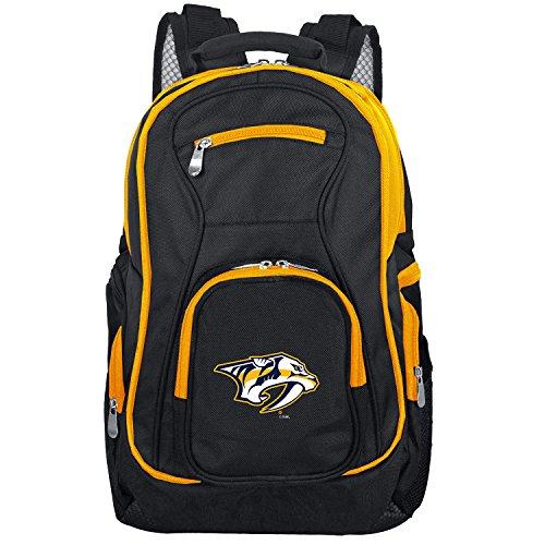 DENCO NHL farbigen Trim Premium Laptop-Rucksack (, 19-inches, Unisex-Erwachsene, Colored Trim Premium Laptop Backpack, schwarz, 19 -