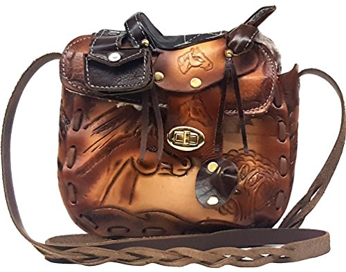 Ariat 8 Zoll (Modestone Large Leather Schultertaschen Decorative Saddle Shape 8