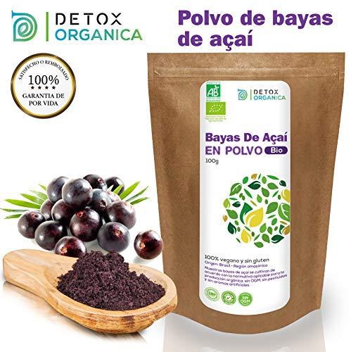 Bayas De Acai En Polvo Orgánico 100 g - Bayas Acai Congelado...