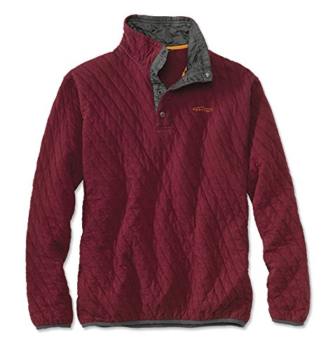 orvis-trout-bum-quilted-snap-sweatshirt-red-heather-x-large