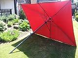 Alu Sonnenschirm 2x3m mit Kurbel - bordeaux - Kurbelschirm