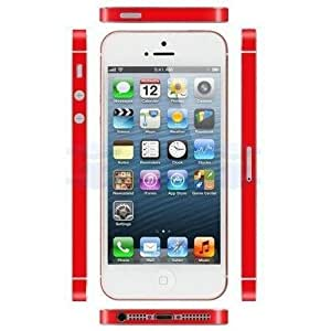 Ultra Thin 3M Vinyl Decal Skin Sticker For iPhone 5 Side Bumper + Screen Protector
