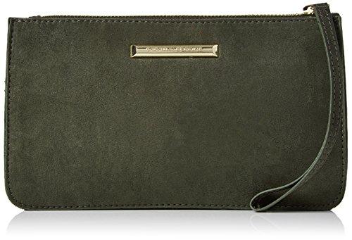 Dorothy Perkins Damen Zip Wristlet Handgelenkstasche, 23x13x5 centimeters Grün (Khaki)