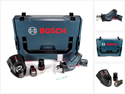 Preisvergleich Produktbild Bosch GSA 12V-14 Li-Ion Professional Akku Säbelsäge in L-Boxx + 2 x GBA 12 V 2,5 Ah Akku + 1 x GAL 1230 Ladegerät