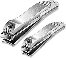 BESTOPE Nagelknipser Set 2 Stück aus Edelstah Nagelschneider für Fußnägel und Fingernägel(große & kleine Ausführung)