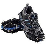 Steigeisen mit 12 Zähne-Klauen ,EONPOW Anti-Rutsch-Schuhe, mit Edelstahl Kette Spikes, Schneekette für den Stiefel(Large Eur 39-46)
