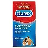 Durex Settebello Super Sottile Preservativi, 12 Pezzi - [pacco da 3] (36 pezzi totali)