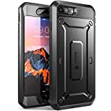 SUPCASE Hülle Kompatibel für iPhone 8 Plus / iPhone 7 Plus Handyhülle 360 Grad Case Outdoor Schutzhülle Cover [Unicorn Beetle PRO] mit eingebautem Displayschutz und Gürtelclip , Schwarz
