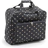 Hobby Gift - Bolsa de Transporte para máquina de Coser, Algodón de PVC, Lunares de carbón, (d/w/h):20 x 43 x 37 cm