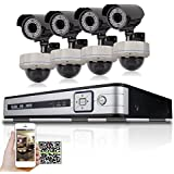 SW 8canaux 1080p NVR IP PoE Système de surveillance vidéo avec (4) Bullet et (8) Dôme 2.0mégapixel 1080p extérieur PoE Vision nocturne IP CCTV caméra sécurité + 3To Disque dur pré-installé
