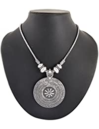 Archiecs Creations Silver Plated Strand Necklace For Women (Handi_152)