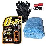 INBUSCO XXL Auswahl SOFT99 Ultra Glaco Scheibenversiegelung Glasversiegelung Antiregenschutz Mikrofasertuch Handschuhe 1x oder 2X Stück zur Wahl (04146 + MF01 + HS)