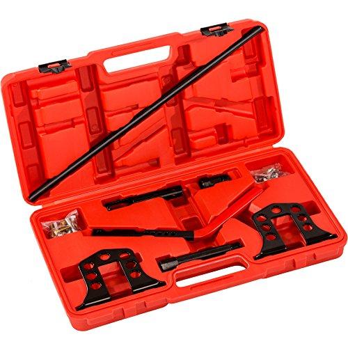 TecTake Universal Ventilfederspanner Druckluft Ventile Montage Set Ventilschaftdichtung KFZ Werkzeug inkl. Koffer