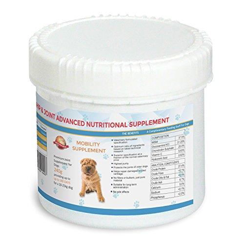 Gelenk Ergänzungsfutter für Hunde - 180 Tage für einen 10 - 25 kg Hund | Veterinärformulierte Prämie Ergänzung, Die Gelenkschmerzen Lindert Und Die Mobilität Verbessert | Glucosamin Chondroitin MSM, Zugabe bei Arthritis zur Schmerzlinderung bei Hunden | 30-Tage-Garantie ...