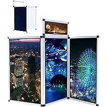Mountainnet 3pannelli pieghevole display mostra Boards supporto da tavolo intestazione telaio in lega di alluminio con borsa per il trasporto