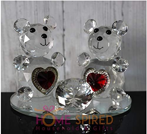 Homespired decorativo in vetro cristallo animale cavallo a forma di cigno con cristalli swarovski elements regalo-diversi motivi ornamentali-perfetto per ogni occasione, bear-ornament