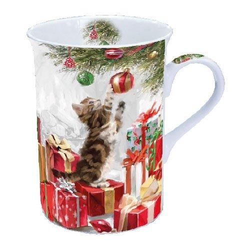 Tasse K?tzchen & Kugeln Becher 0,25?l Fine Bone China (Weihnachten Becher)