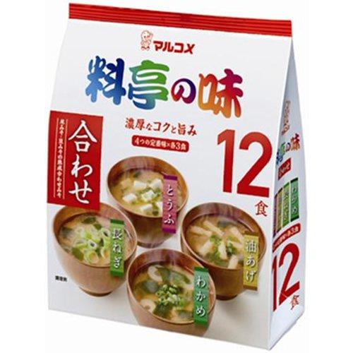 マルコメ お徳用 料亭の味みそ汁 12食×12個