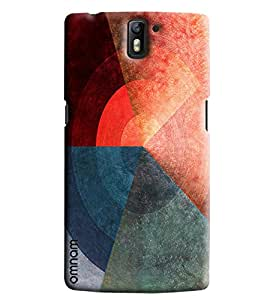 Omnam Three Color Pattern Printed Designer Back Cover Case For One Plus One