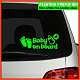 Baby/Kind Aufkleber Kids inside Baby ca. 20x10cm mit Name Autoaufkleber Heckscheibenaufkleber, Auto Aufkleber Baby an Bord