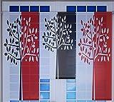 Miniflächen-Set rot schwarz weiß mit Baum Scheibengardine