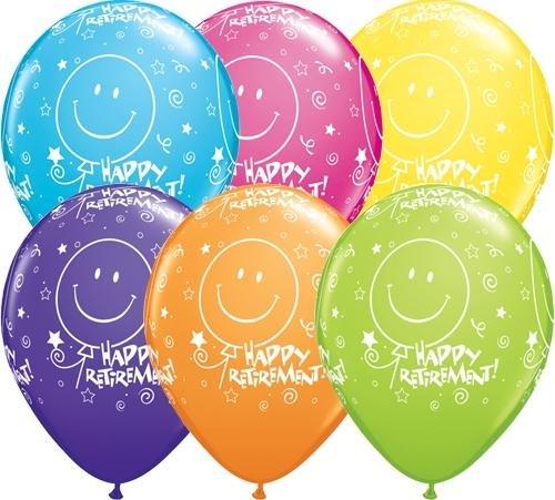 8061rund Ruhestand. Smile Face Latex Ballon, 27,9cm ()