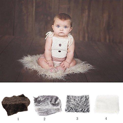 Sharplace Webpelzdecke Felldecke Kuscheldecke für Fotografie Neugeborene Baby - Dunkelgrau, wie beschreiben