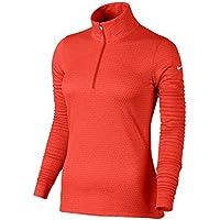 Nike W Nk Dry Hz Camiseta de Manga Larga de Golf, Mujer, Naranja (MAX Orange/White), S