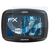 atFoliX Panzerfolie für Garmin Zumo 340LM CE Folie - 3 x FX-Shock-Clear stoßabsorbierende ultraklare Displayschutzfolie