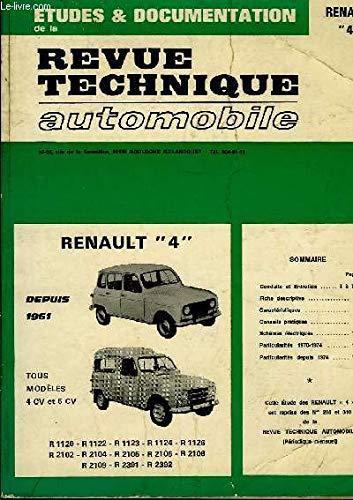 Etudes & documentation de la revue technique automobile. renault 4 par  COLLECTIF (Broché)