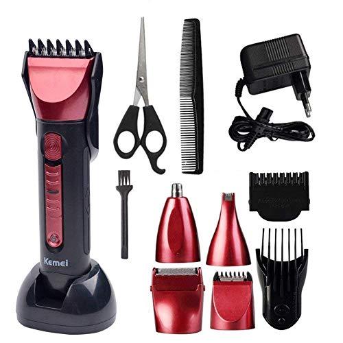 Haarschneider Profi Haarschneidemaschine Bartschneider Männer Präzisionstrimmer Hair Clipper Elektrische Wiederaufladbare Haartrimmer Set Trimmaufsätzen für Kinder und Herren