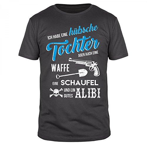 FABTEE Hübsche Tochter - Herren Organic Cotton T-Shirt - Verschiedene Farben - Größen S-4XL, Größe:XL, Farbe:Anthrazit