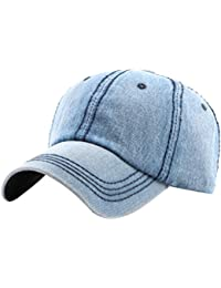 Zhhlinyuan Fashion Men s Denim Sun Hat Outdoor Sport Baseball Cap 4724806cfac
