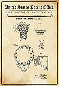 US Patent - Design for a Basketball Goal- Entwurf für ein Basketball Korb -...