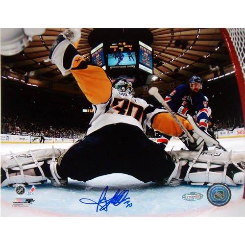 Steiner Sports NHL Ryan Miller Ziel Cam Kick Save VS Rangers handsignierten 8-by-10-inch Foto