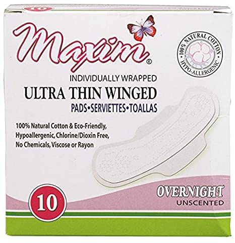 Ultra Thin Winged Pads, super, 10 Pads - Maxim Hygiene Products