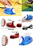 E SHOPEE Micro Mini Travel Compact Portable Electrical Clothes/Easy to Use Ironing Press Iron- Multi Color for Men's and Women